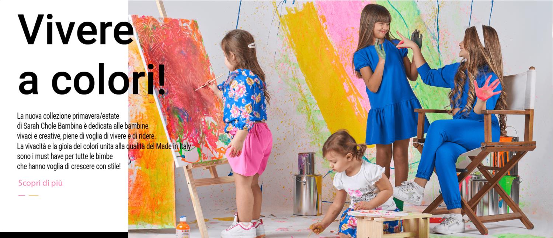 Nuova collezione 2021 bambina vivere a colori